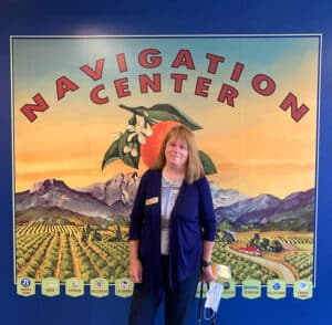 Carol Warren at the Buena Park Navigation Center